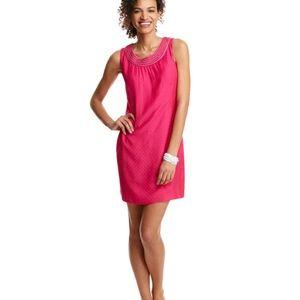 Vineyard Vines | Fuchsia Embellished Shift Dress